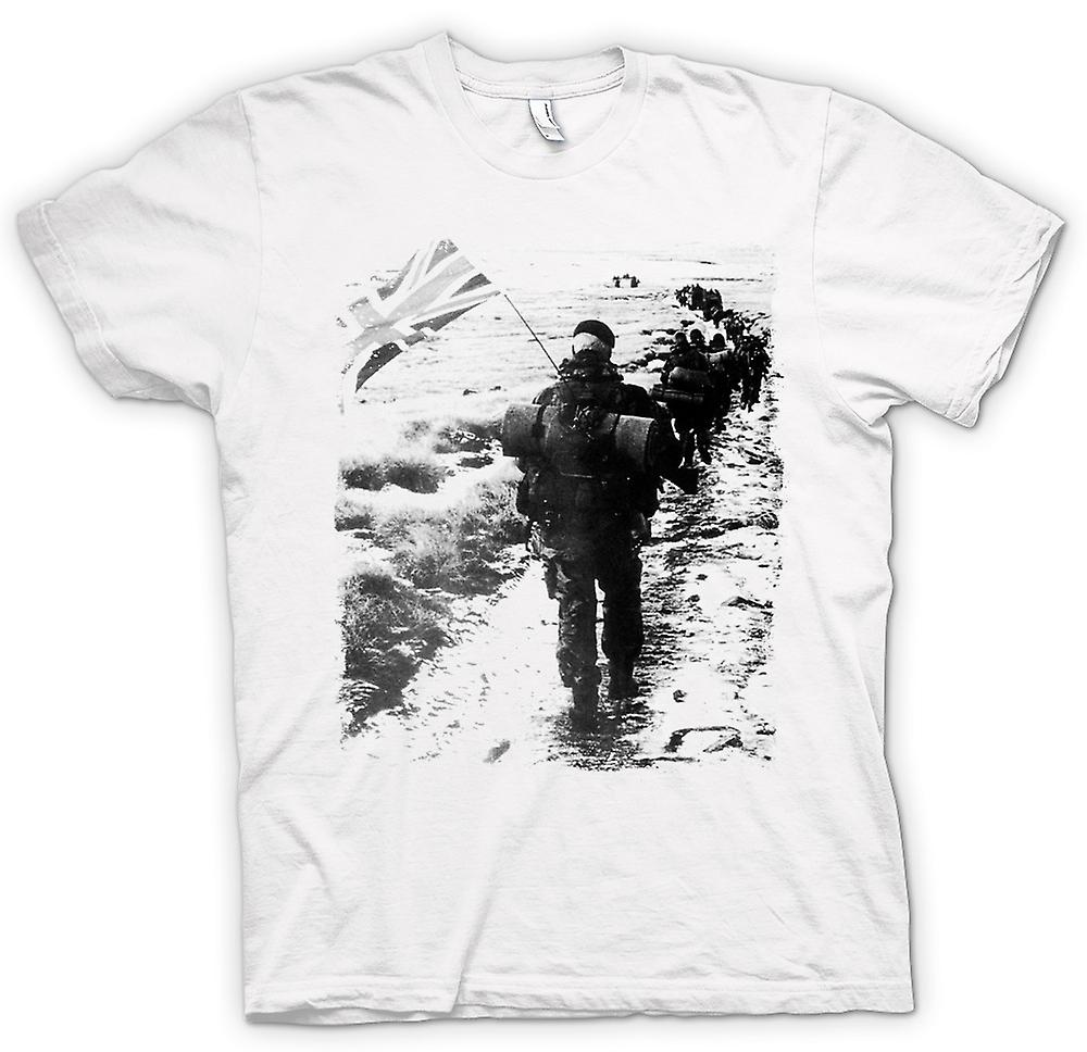 Womens T-shirt - Royal Marines Falklands Yomp