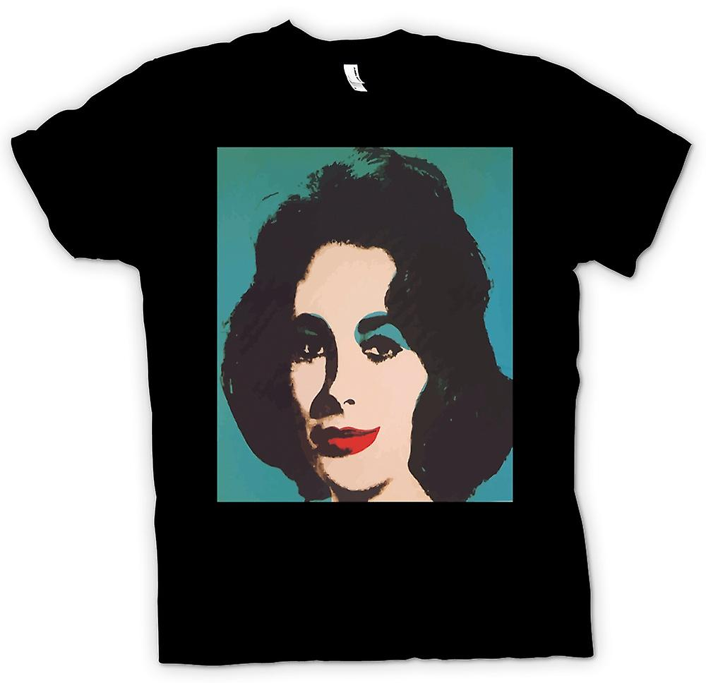 Mens T-shirt - Elizabeth Taylor Pop Art