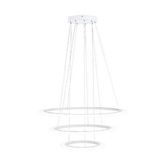 Eglo LED Hanging Lamp Dia: 790 3 Ringe Weiss Penaforte