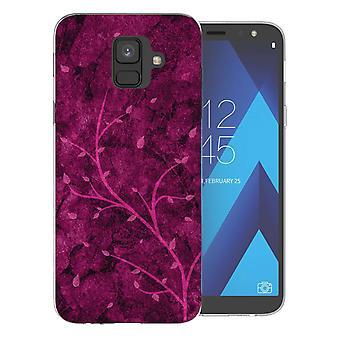 Samsung A6 (2018) Pink Tree TPU Gel Case