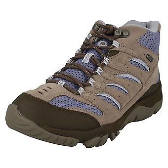 Ladies Merrell Walking Boots White Pine Mid Vent WTPF J09558 - Falcon Leather - UK Size 7.5M - EU Size 41 - US Size 10