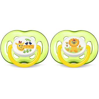 Avent Neutral Animal Pacifiers 18 Months 2 uds