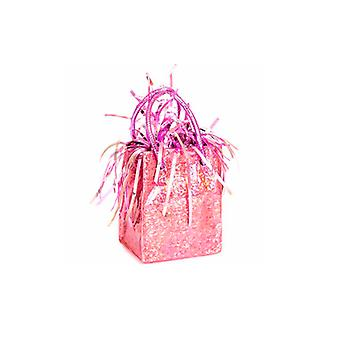 Ballon gewicht Mini handtas roze prisma