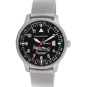 Aristo Messerschmitt men's Aviator watch Milanese ME-209 M