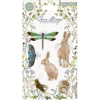 Craft Consortium A5 Clear Stamps-Wildflower Meadow