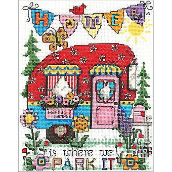 Happy Camper Counted Cross Stitch Kit-6.75