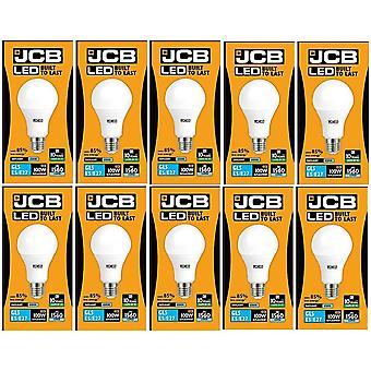 10 X JCB LED 15 W Screw Cap GLS Daylight 6500K Lightbulb 100W Replacement ES E27 LED [Energy Class A+]