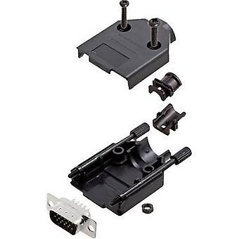 encitech DTPK-P-09-HDP15-K D-SUB pin strip set 180 ° Number of pins: 15 Solder bucket 1 Set