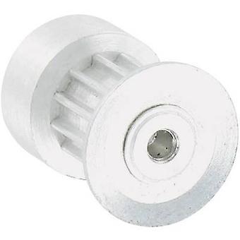 Aluminium Toothed belt disc Reely Bore diameter: 2.3 mm Diameter: 13 mm No. of teeth: 12