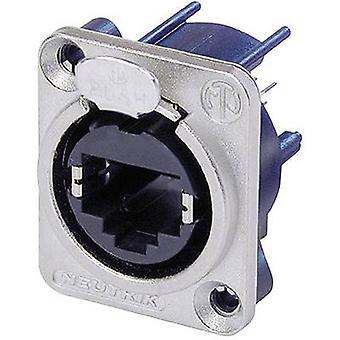 Neutrik NE8FDV NE8FDV RJ45 Data Connector EtherCon D Series 8P8C RJ45 Socket, straight Nickel