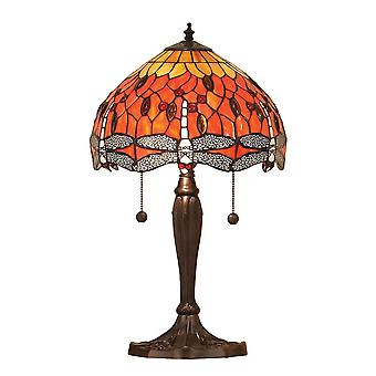 Interiors 1900 Flame Dragonfly Medium 2 Light Table Lam