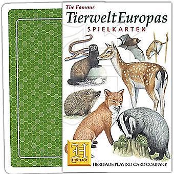 Tierwelt Europas (língua alemã) conjunto de 52 cartas (+ Jokers)