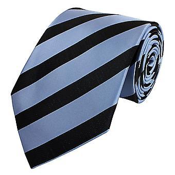 Nouer la cravate cravate cravate 8cm Black Blue metallic Fabio Farini
