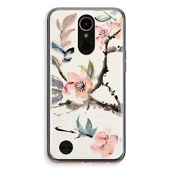 LG K10 (2018) Transparent fodral (Soft) - Japenese blommor