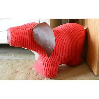 Rote Schnur Jumbo Schwein Tür Banger / Türstopper von Monica Richards