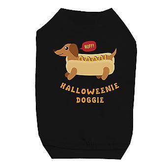 Halloweenie Doggie Black Pet Shirt for Small Dogs