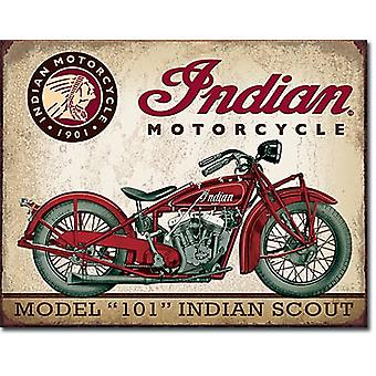 Indian Motorcycle Model 101 Indian Scout Metal Sign