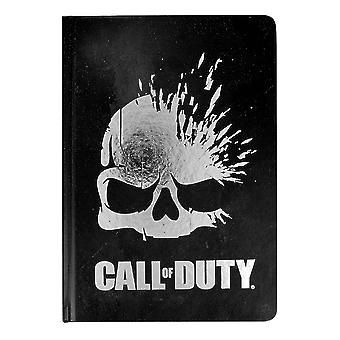Call of duty notebook logo hardcover, bound, lined 100 pages.