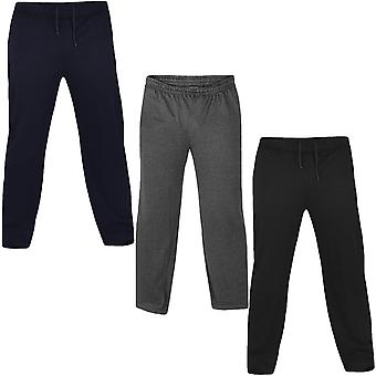 D555 Mens Rory Big Tall King Size Casual Fleece Jogging Bottoms Tracksuit Pants