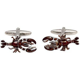Zennor Lobster Cufflinks - Orange/Silver