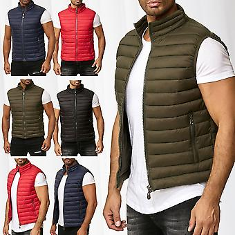Men's Quilted Waistcoat Sleeveless Outdoor Bodywarmer Lined Jacket