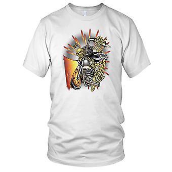 Sleeton Biker - Biker Motorcycle Motorbike Hog Ladies T Shirt