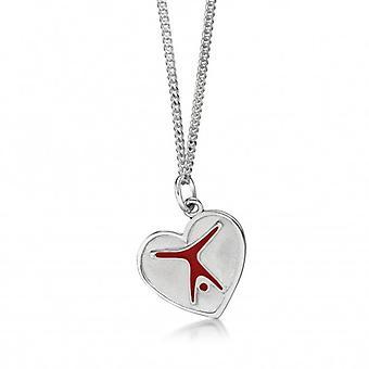Kettenanhänger 'Turnfigur im Herz', Silber