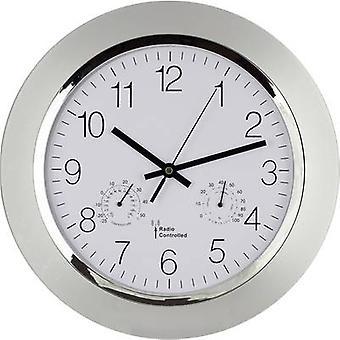 EUROTIME 56004 radio orologio da parete 34 cm x 5 cm argento