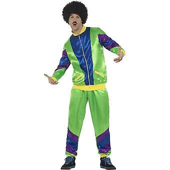 80's Height of Fashion Shell Suit Costume, Male, Green, with Jacket & Trousers