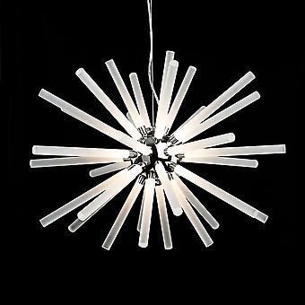 Firstlight Starburst LED colgante en cromo y blanco
