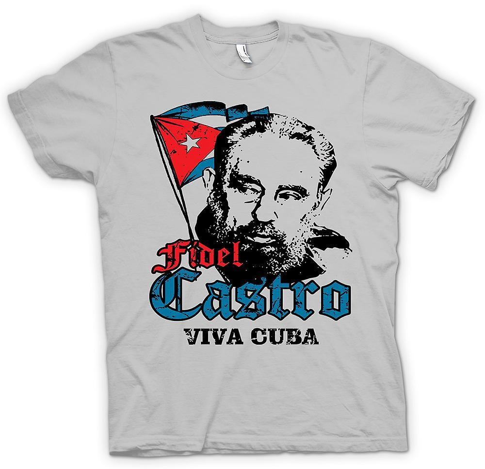 Mens t-shirt - Fidel Castro Viva Cuba - comunismo