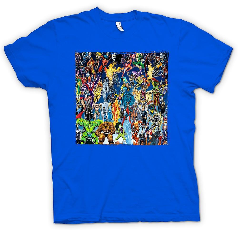 Camiseta para hombre - Marvel Comics Super héroe - Collage