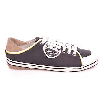 Love Moschino Black Low Canvas Trainer
