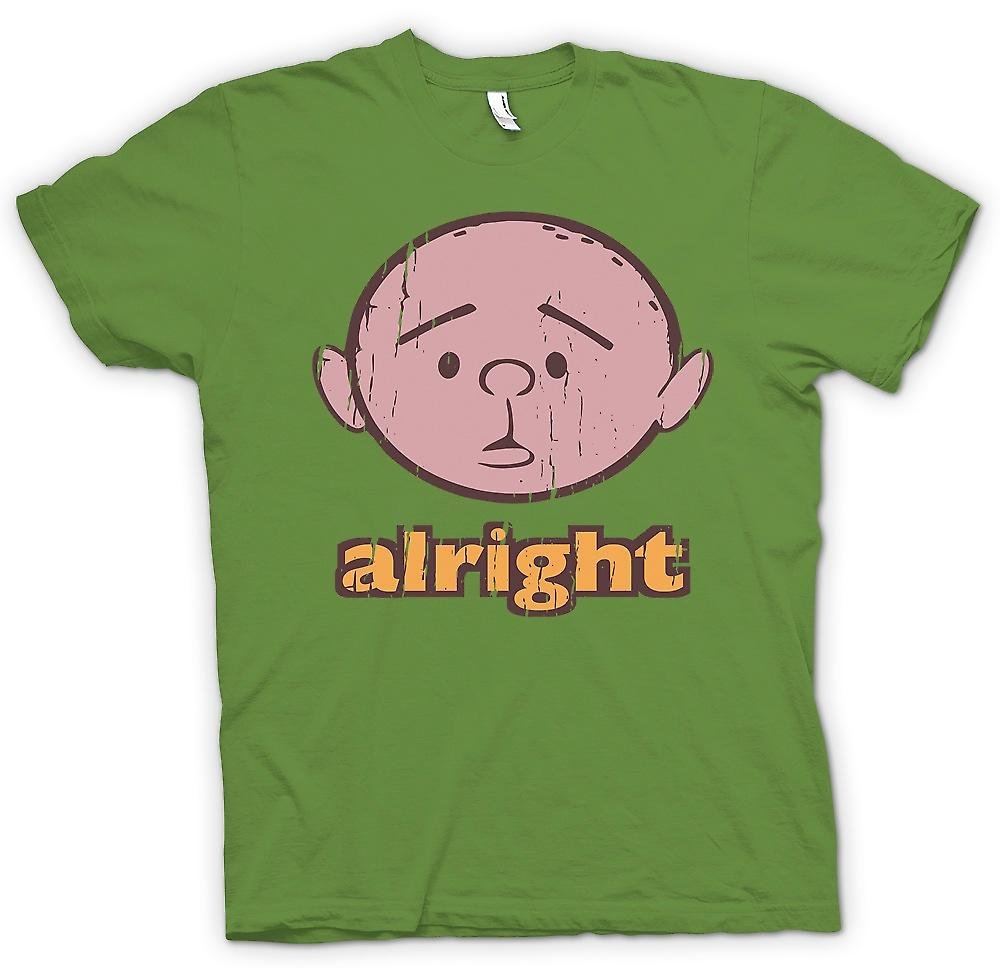 Mens T-shirt - Alright - Karl Pilkington - Philosopher Genius