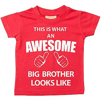 This is What An Awesome Big Brother Looks Like Red Tshirt