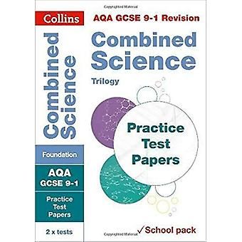 AQA GCSE Combined Science�Foundation Practice Test�Papers: Shrink-wrapped school�pack (Collins GCSE 9-1�Revision) (Collins GCSE 9-1�Revision)