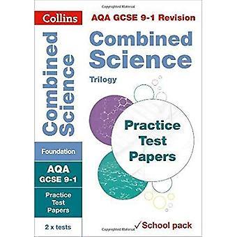 AQA GCSE kombinerat Science Foundation praktiken Test papper: Krympfolie skola pack (Collins GCSE 9-1 Revision) (Collins GCSE 9-1 Revision)