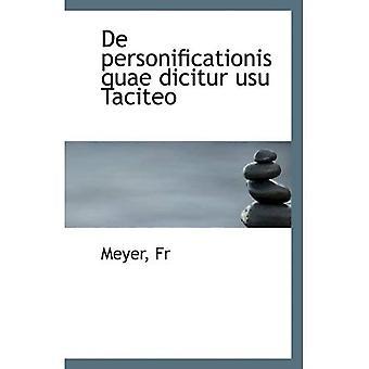 De personificationis quae dicitur usu Taciteo