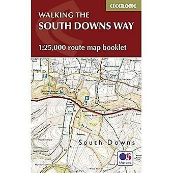 Les South Downs Way carte livret: 1/25 000 OS Route cartographie