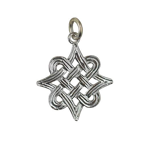 Silver 20x17mm Celtic knot Pendant