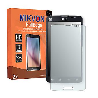LG L80 screen protector - Mikvon FullEdge (screen protector with full protection and custom fit for the curved display)