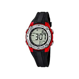 Calypso-Unisex digital watch with LCD Digital Display and plastic strapping, color: black, 6 K5685