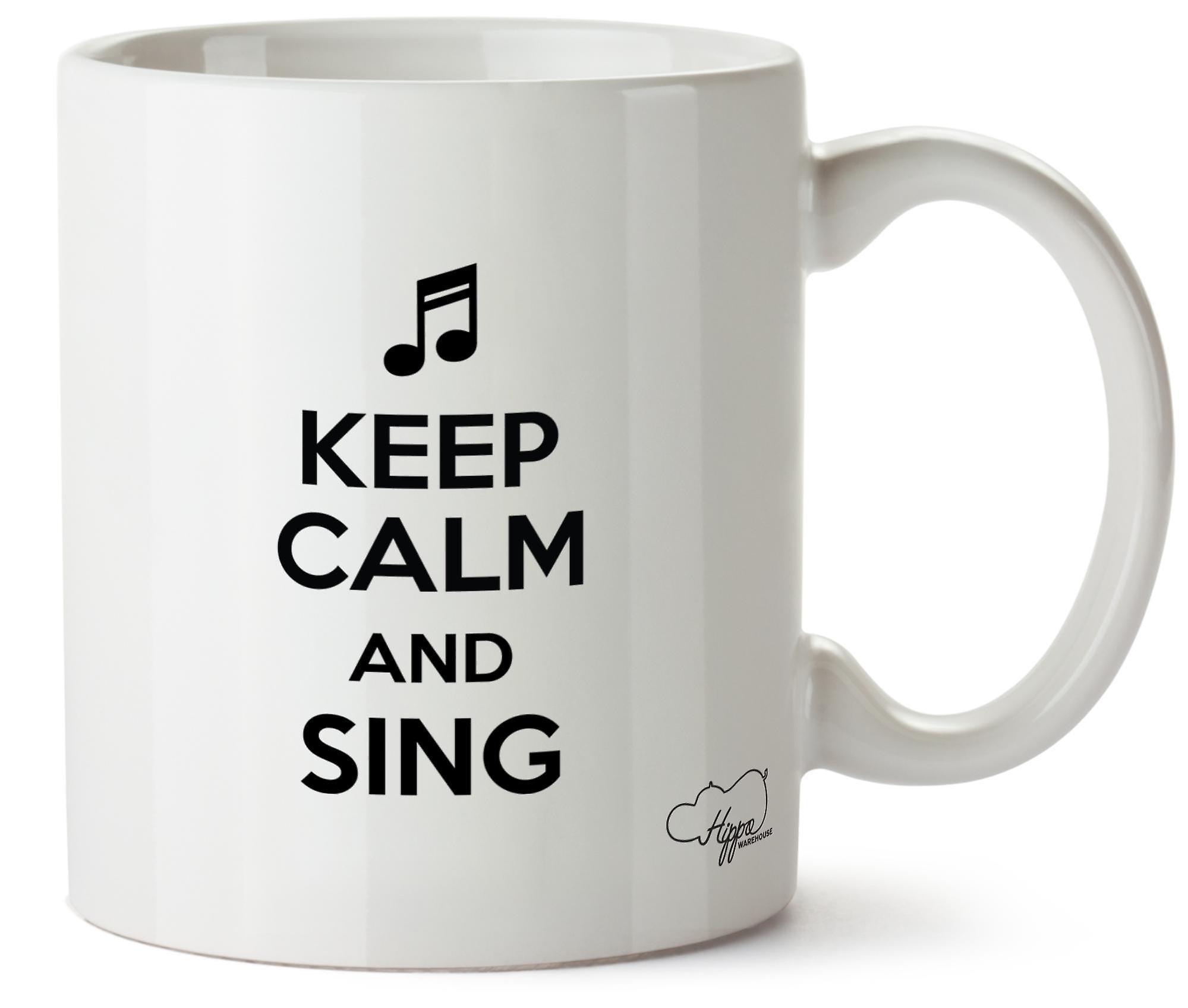 Hippowarehouse Calme 10oz Et Garder Sing Tasse Imprimé Mug Céramique hCtQdxBsr
