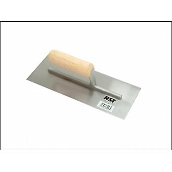 FINISHING TROWEL 11IN X 4.1/2IN - STRAIGHT WOODEN HANDLE