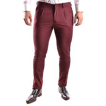 Michael Kors Burgundy Cotton Pants