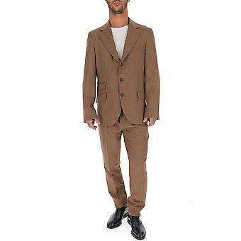 Brunello Cucinelli Brown Cotton Suit
