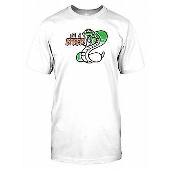 Ich bin ein Biter - große Schlange - lustiger Witz Kinder T Shirt