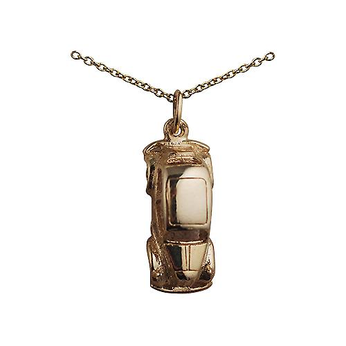 9ct yellow gold 20x8mm Vintage Car Pendant with a Cable link Chain 16 inches Only Suitable for Children