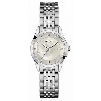 Bulova Womens Stainless Steel Silver Dial 96S160 Watch