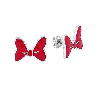 Disney Minnie Mouse Rocks Große weiße Rotbogen Ohrwurm Ohrringe
